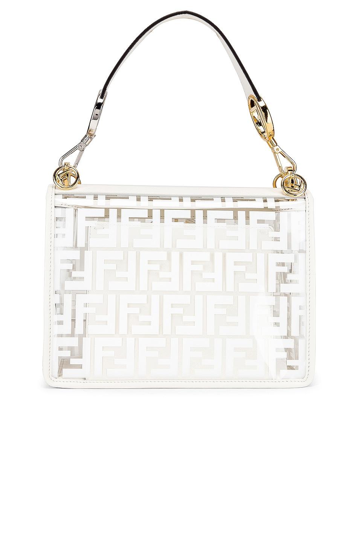 Image 3 of Fendi Kan I Logo Crossbody Bag in White