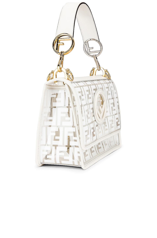 Image 4 of Fendi Kan I Logo Crossbody Bag in White