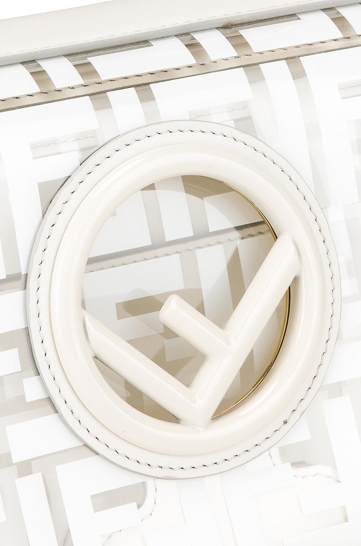 Image 8 of Fendi Kan I Logo Crossbody Bag in White
