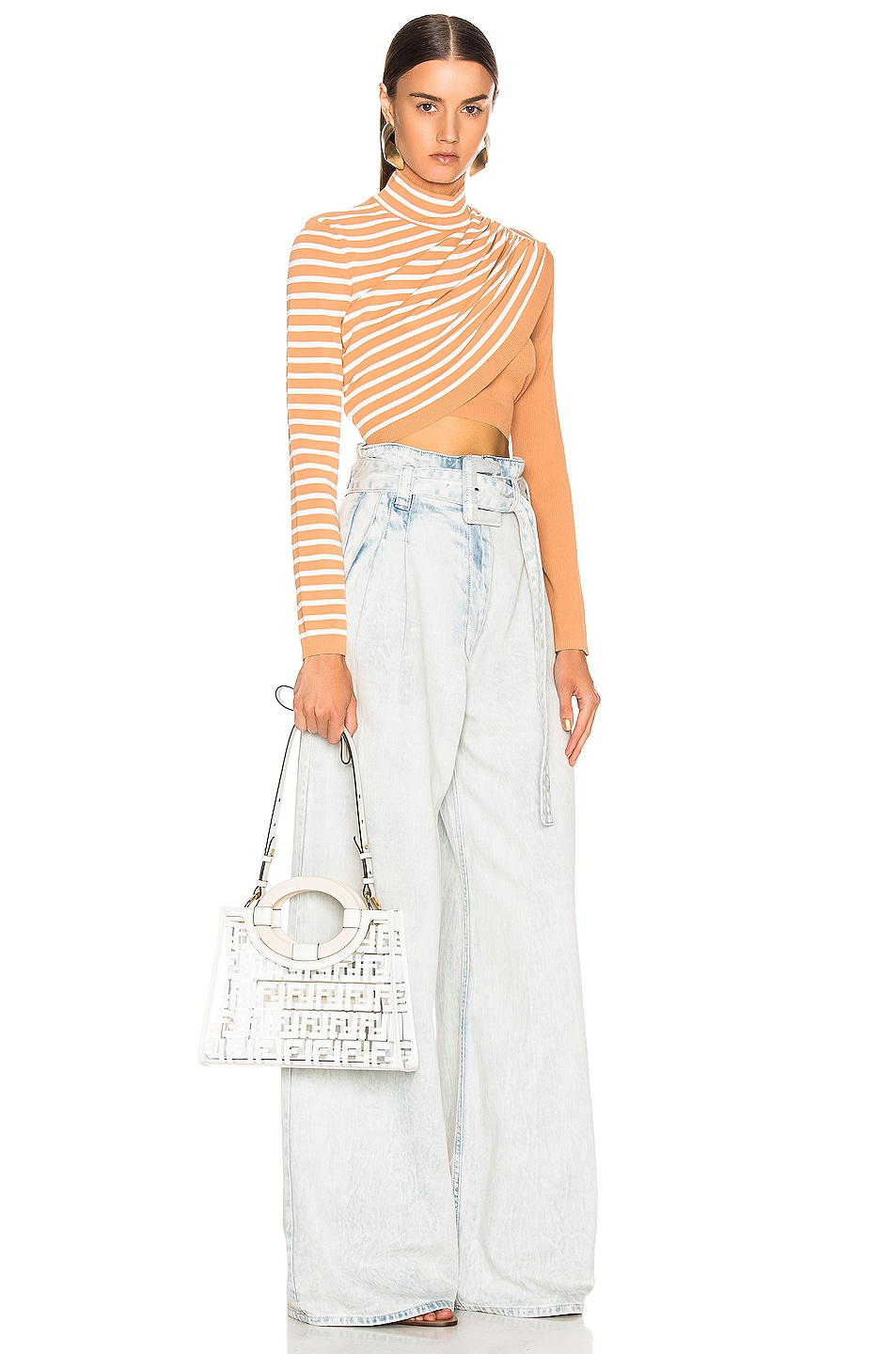Image 2 of Fendi Mini Runaway Shopper Tote in White