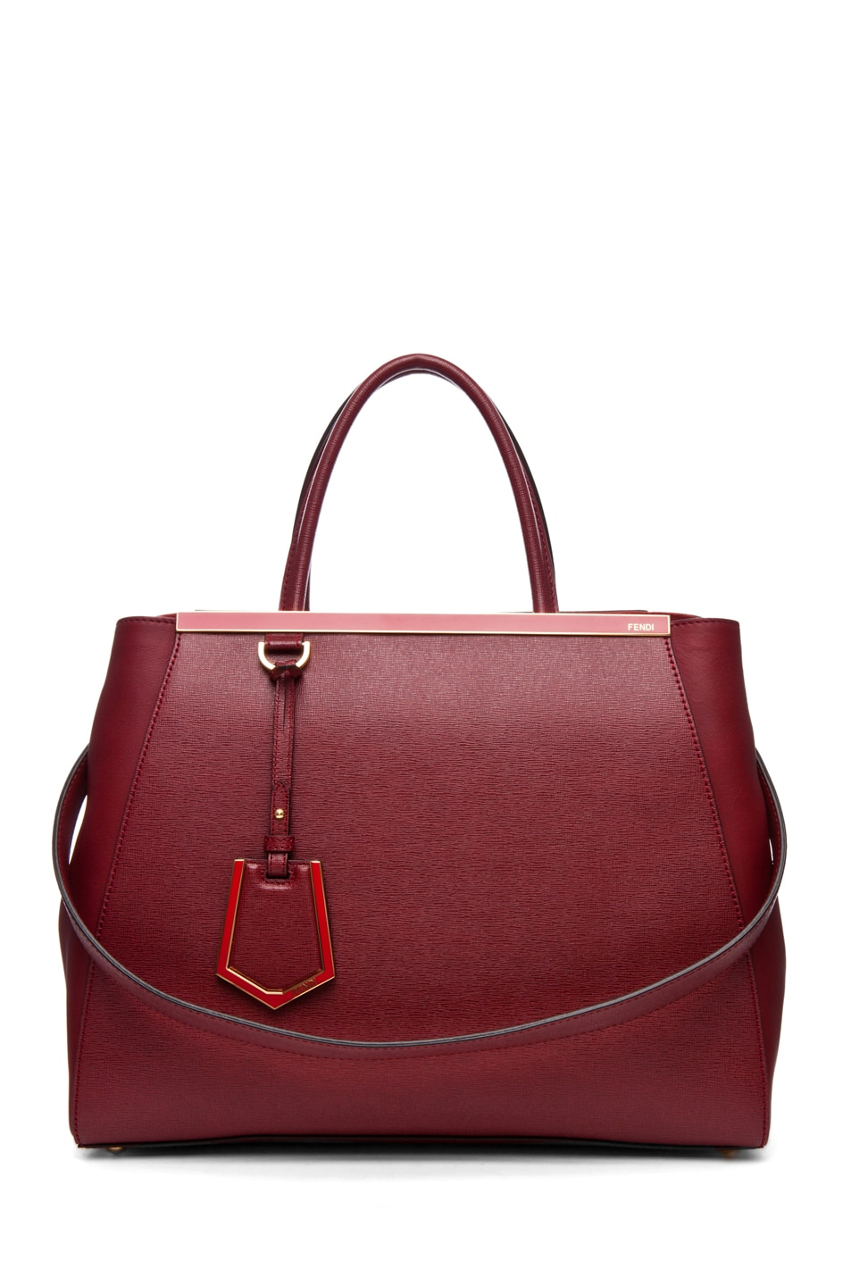 Image 1 of Fendi Medium Shopper Bag in Dark Cherry