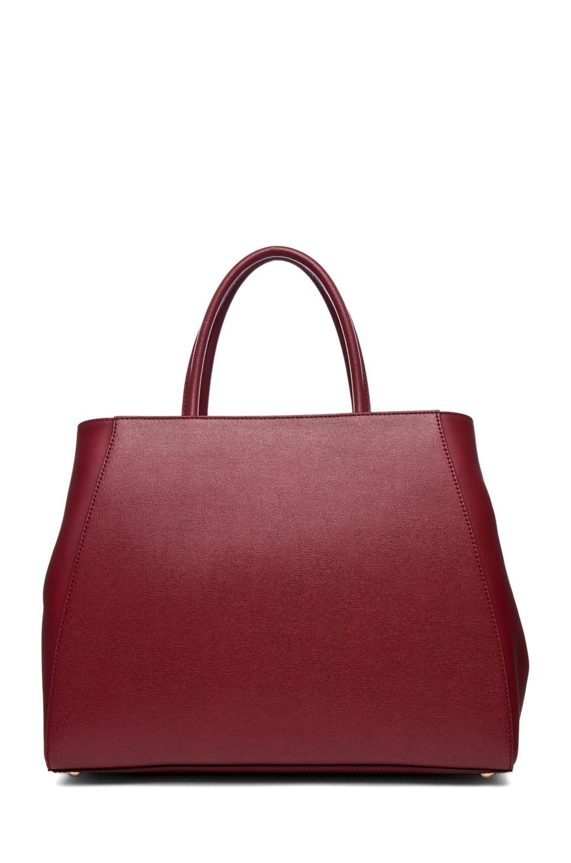Image 2 of Fendi Medium Shopper Bag in Dark Cherry