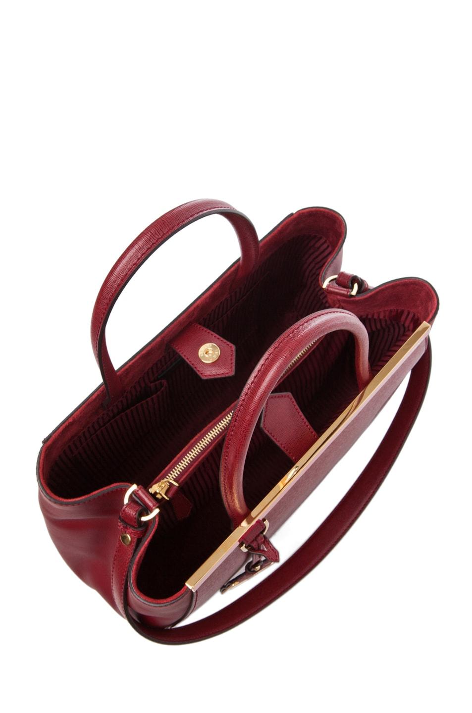 Image 4 of Fendi Medium Shopper Bag in Dark Cherry