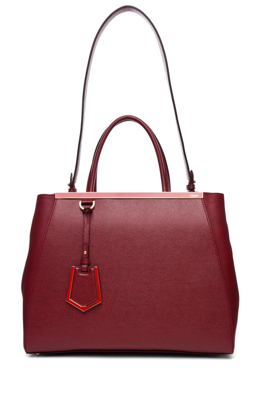 Image 5 of Fendi Medium Shopper Bag in Dark Cherry