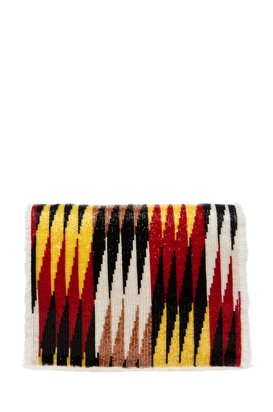 Image 1 of Fendi Daisy Shoulder Bag with Mink Fur in Red Multi