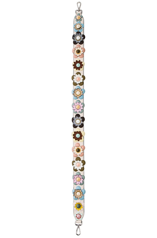 d33c504655 Image 2 of Fendi Flower Embellished Bag Strap in Pale Pink   Multi