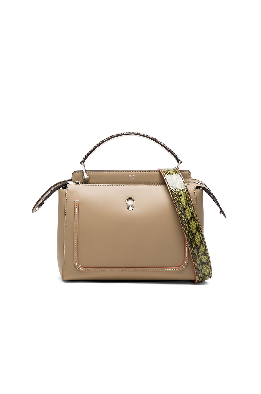 Image 1 of Fendi Elaphe Handle Bag in Dove