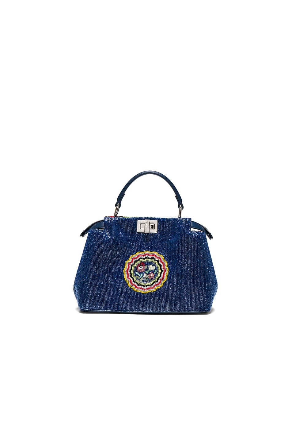 Image 2 of Fendi Embroidered Flowers Mini Peekaboo in Multi
