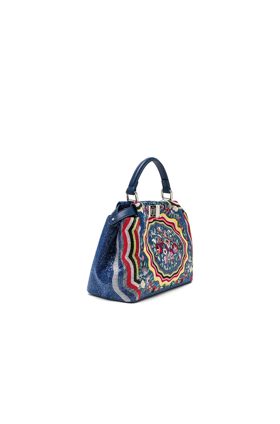 Image 3 of Fendi Embroidered Flowers Mini Peekaboo in Multi