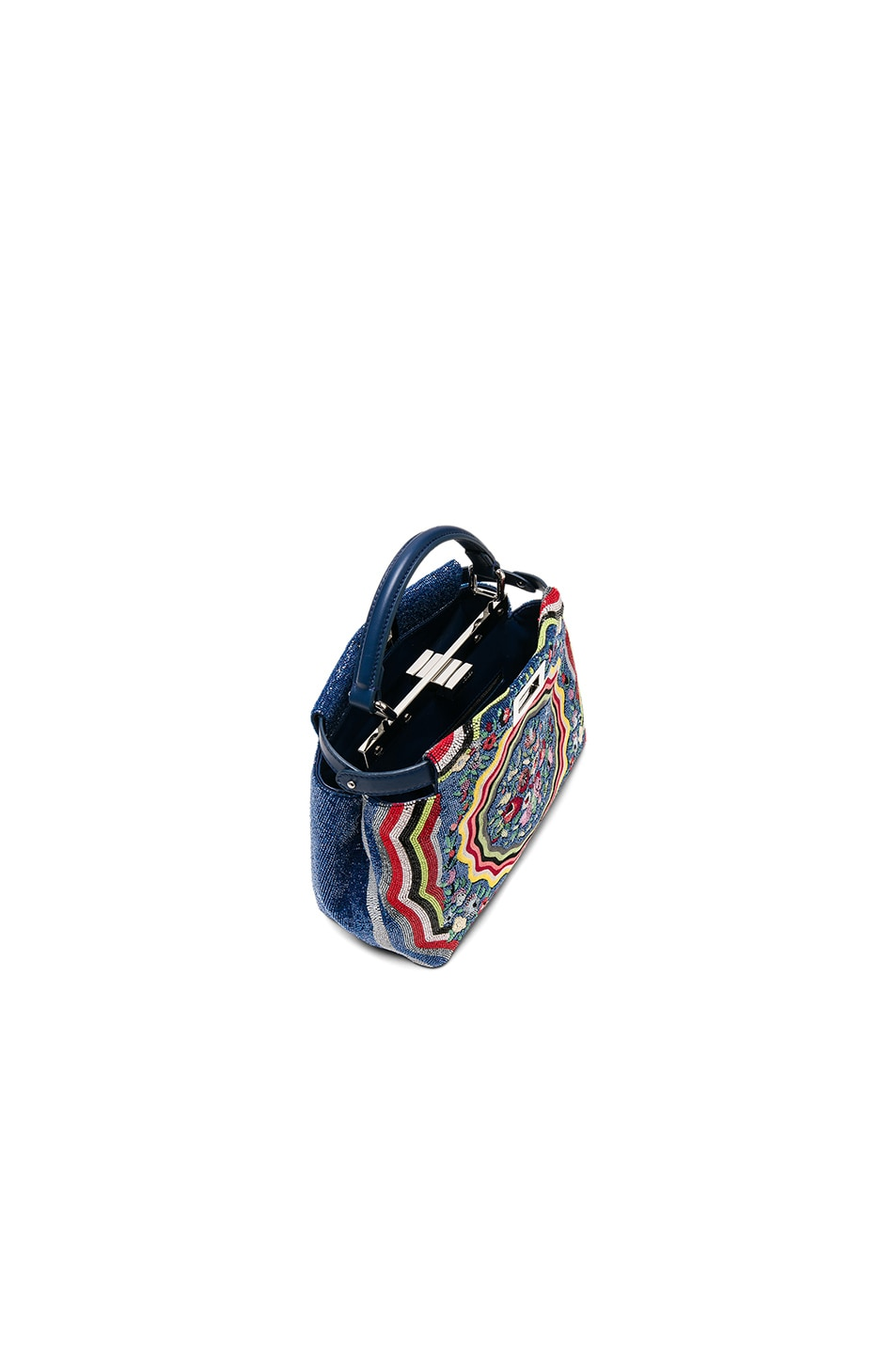 Image 4 of Fendi Embroidered Flowers Mini Peekaboo in Multi