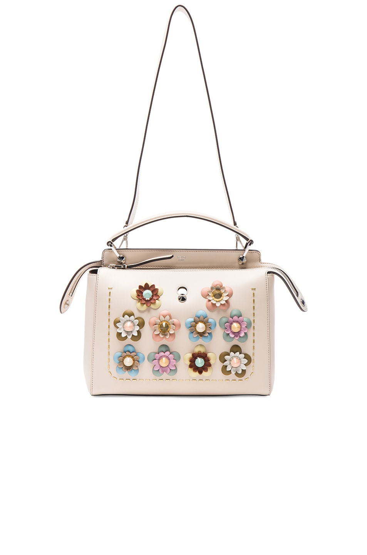 020cba49edbb Image 5 of Fendi Flower Embellished Dotcom Bag in Camelia   Multicolor