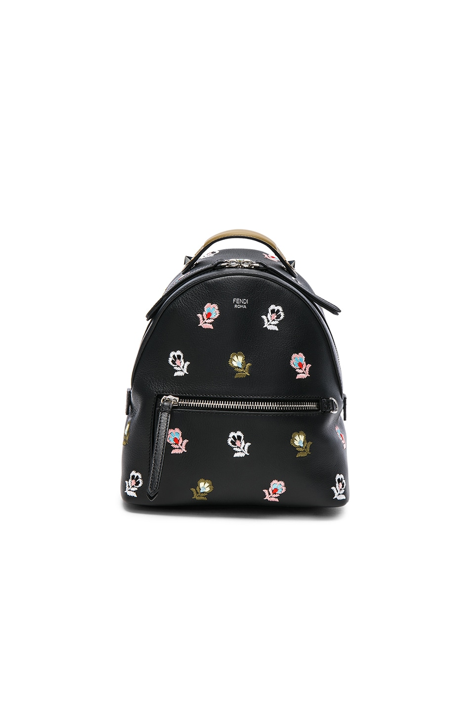 Image 1 of Fendi Mini Zaino Backpack in Black & Multicolor