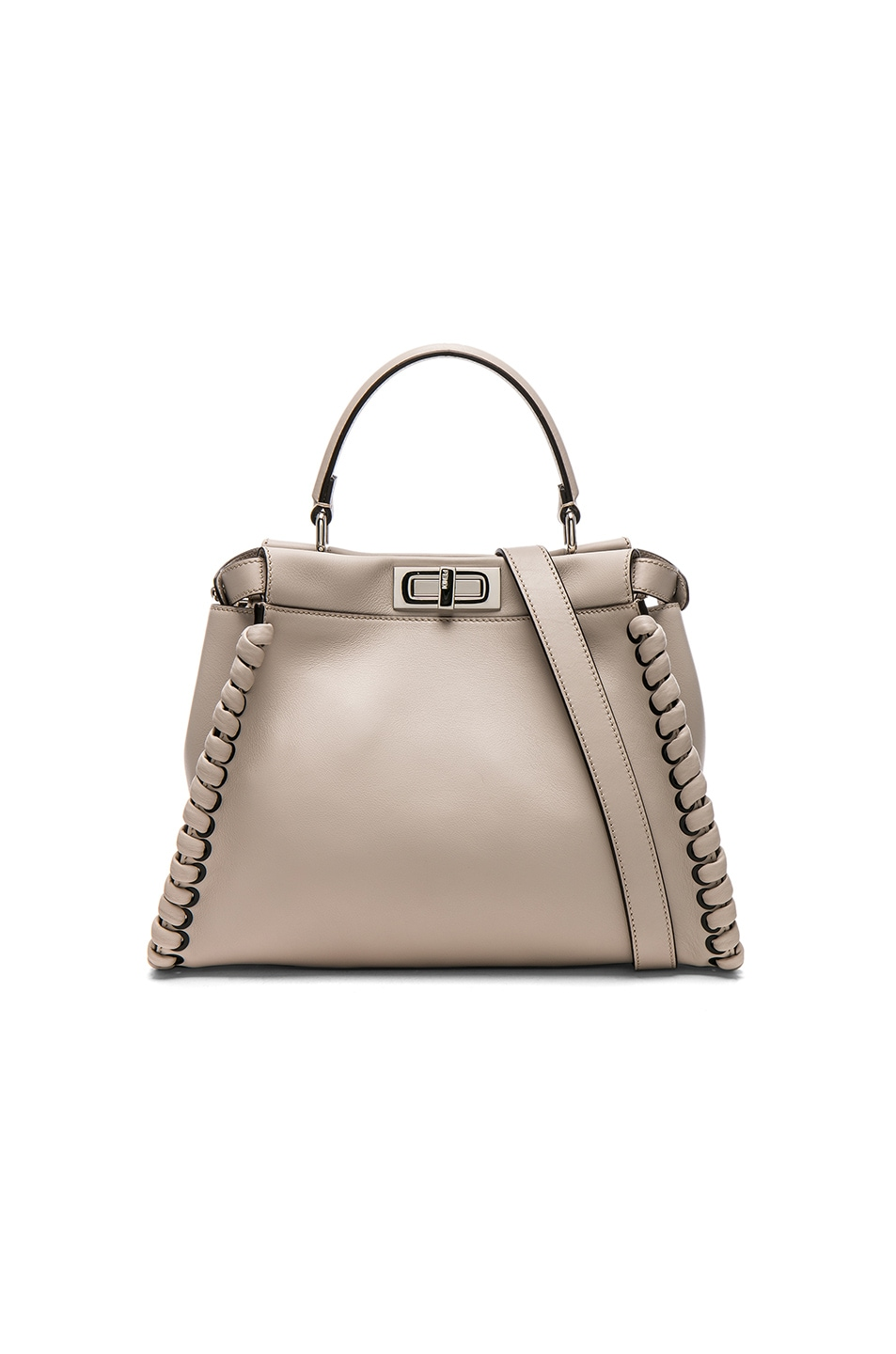 Image 1 of Fendi Whipstitch Regular Peekaboo in Grey Powder