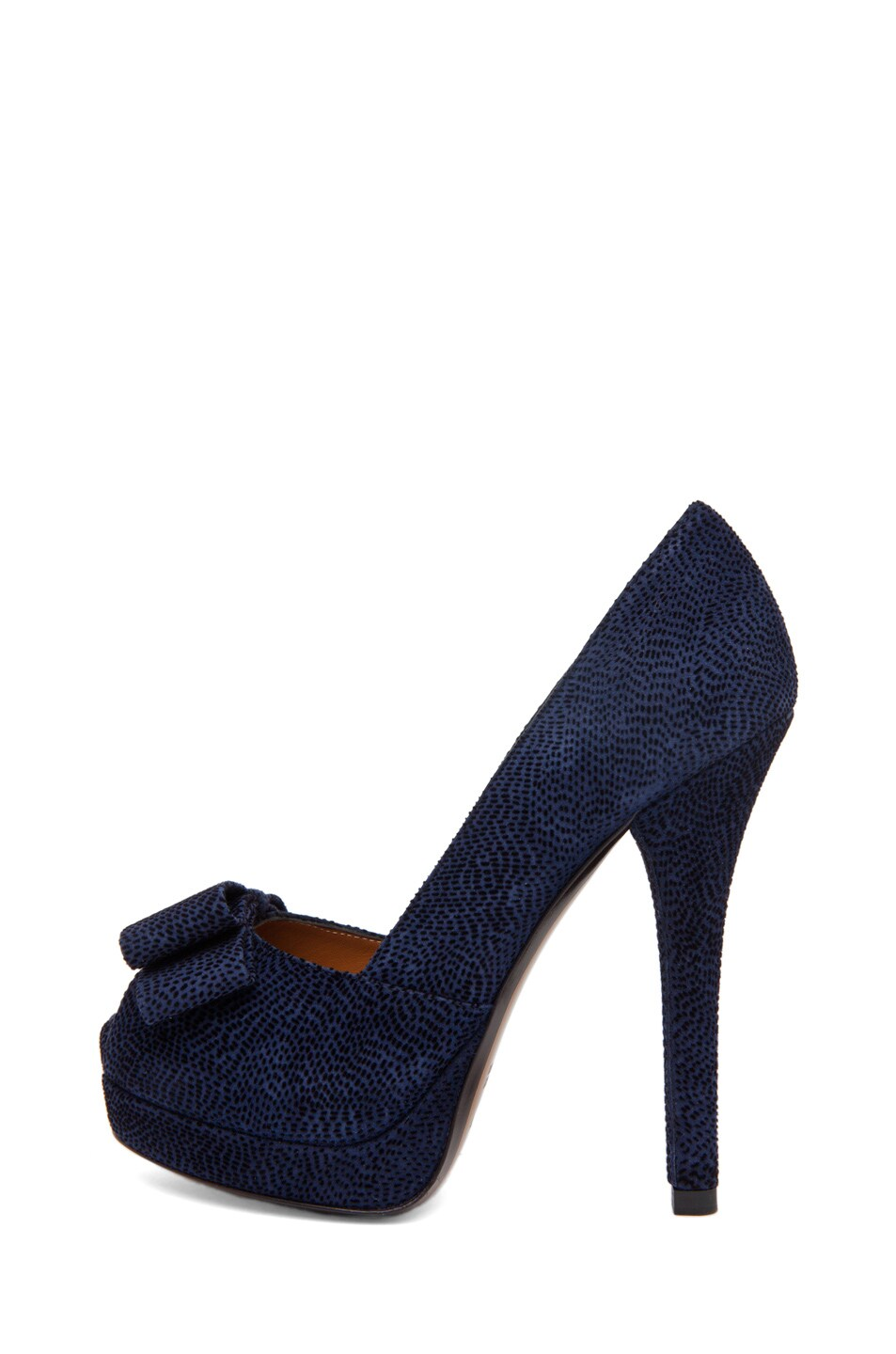 Image 1 of Fendi Bow Pump in Navy