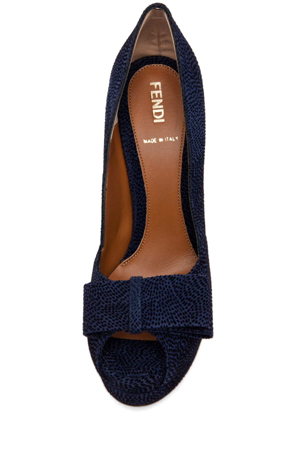 Image 4 of Fendi Bow Pump in Navy