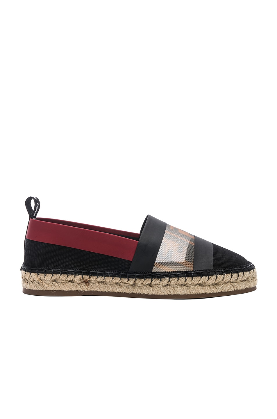 a88bc56d2c401 Image 1 of Fendi Mesh Espadrille Flats in Navy