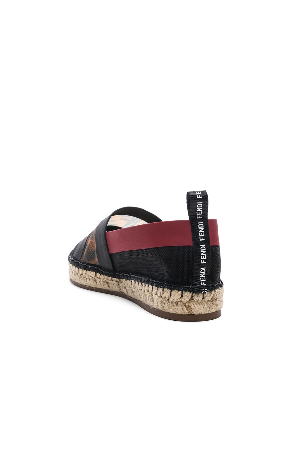 Image 3 of Fendi Mesh Espadrille Flats in Navy