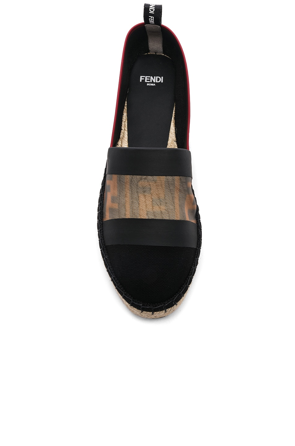 Image 4 of Fendi Mesh Espadrille Flats in Navy