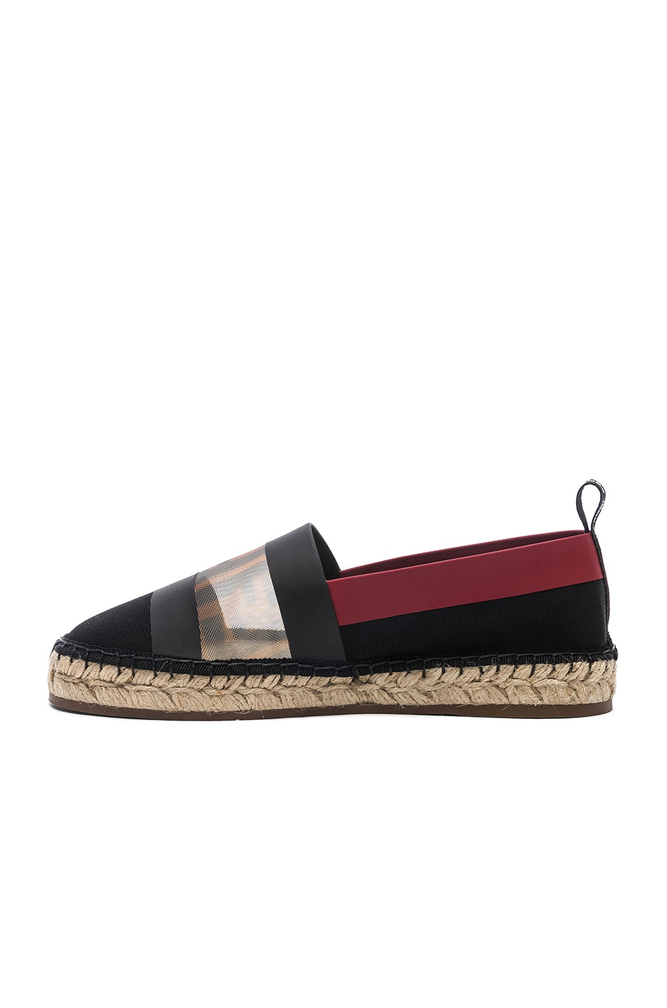 Image 5 of Fendi Mesh Espadrille Flats in Navy