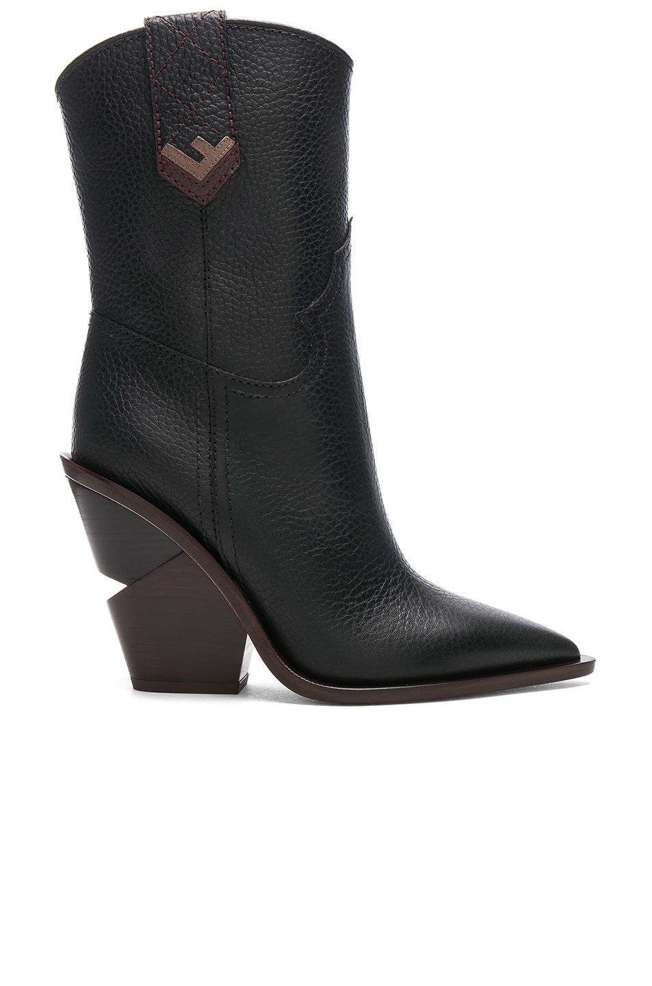 Image 1 of Fendi Cutwalk Western Boots in Black