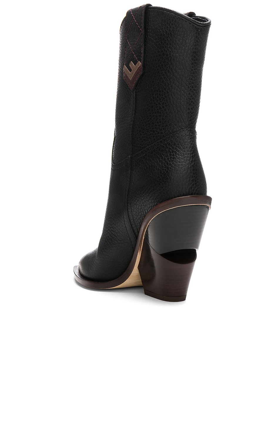 Image 3 of Fendi Cutwalk Western Boots in Black