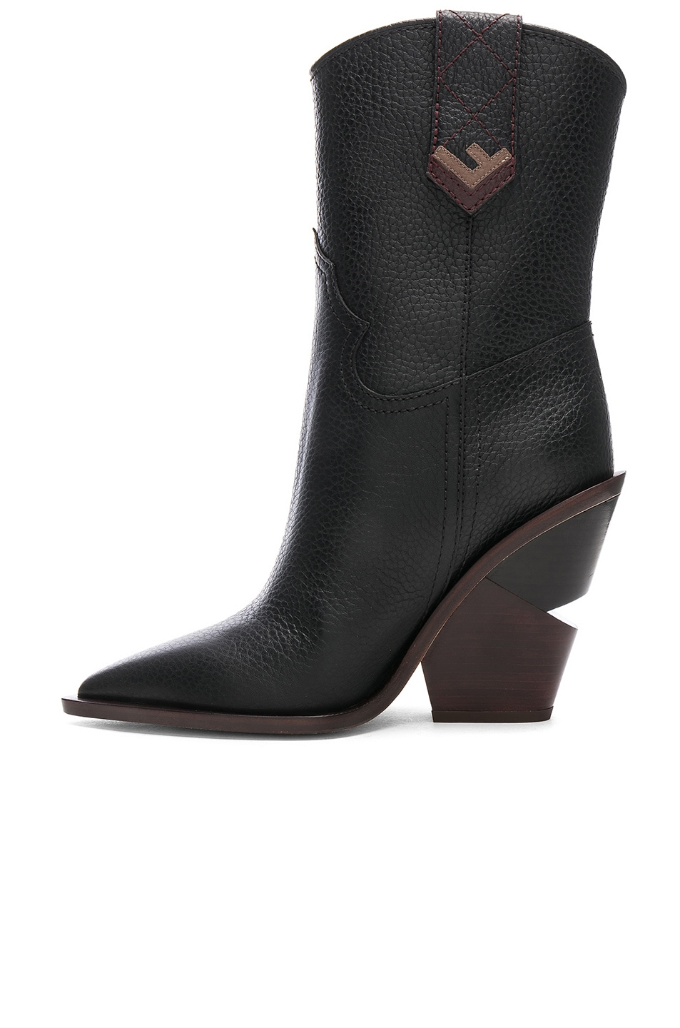 Image 5 of Fendi Cutwalk Western Boots in Black