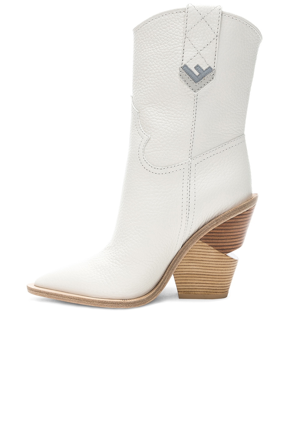 Image 5 of Fendi Cutwalk Western Boots in White