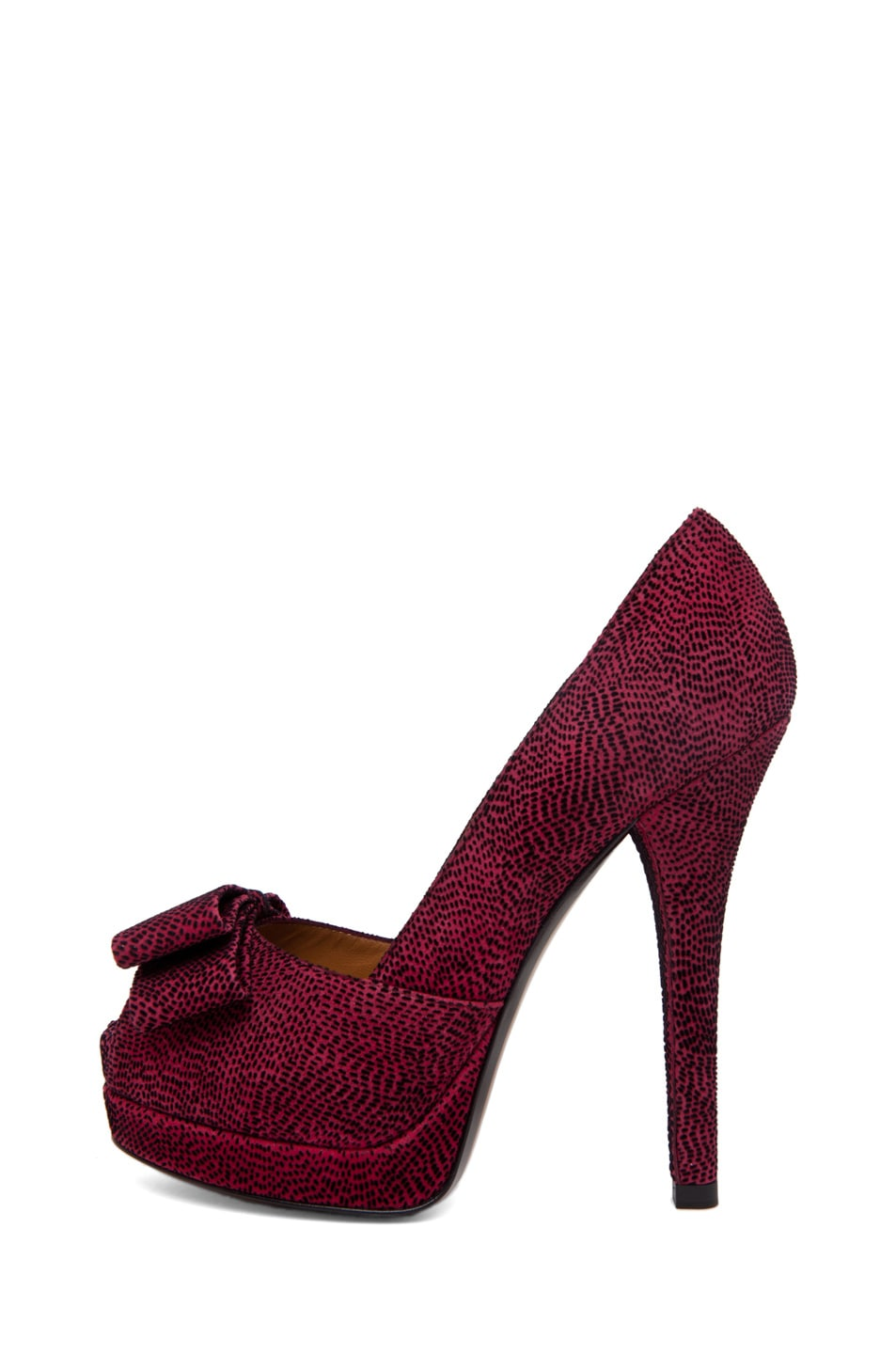 Image 1 of Fendi Bow Pump in Red