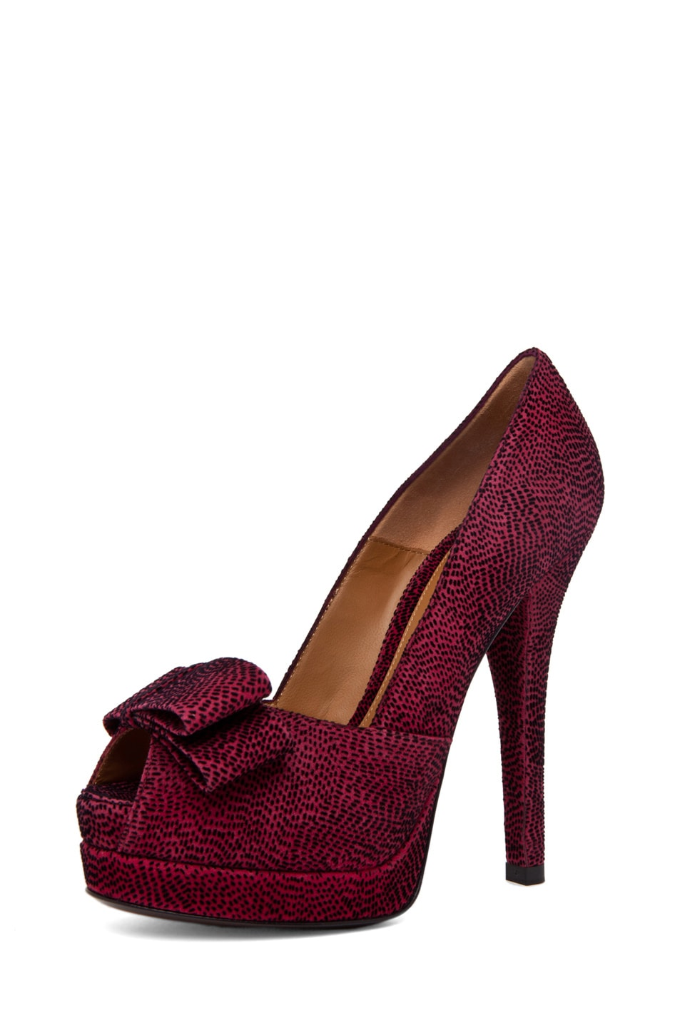 Image 2 of Fendi Bow Pump in Red