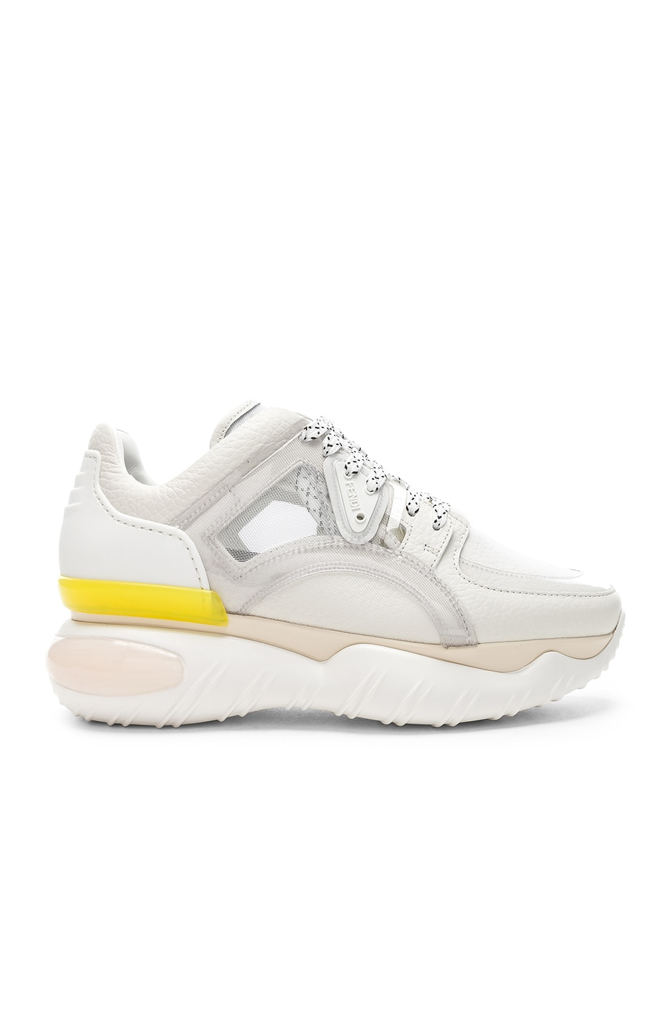 Image 1 of Fendi Platform Sneakers in White
