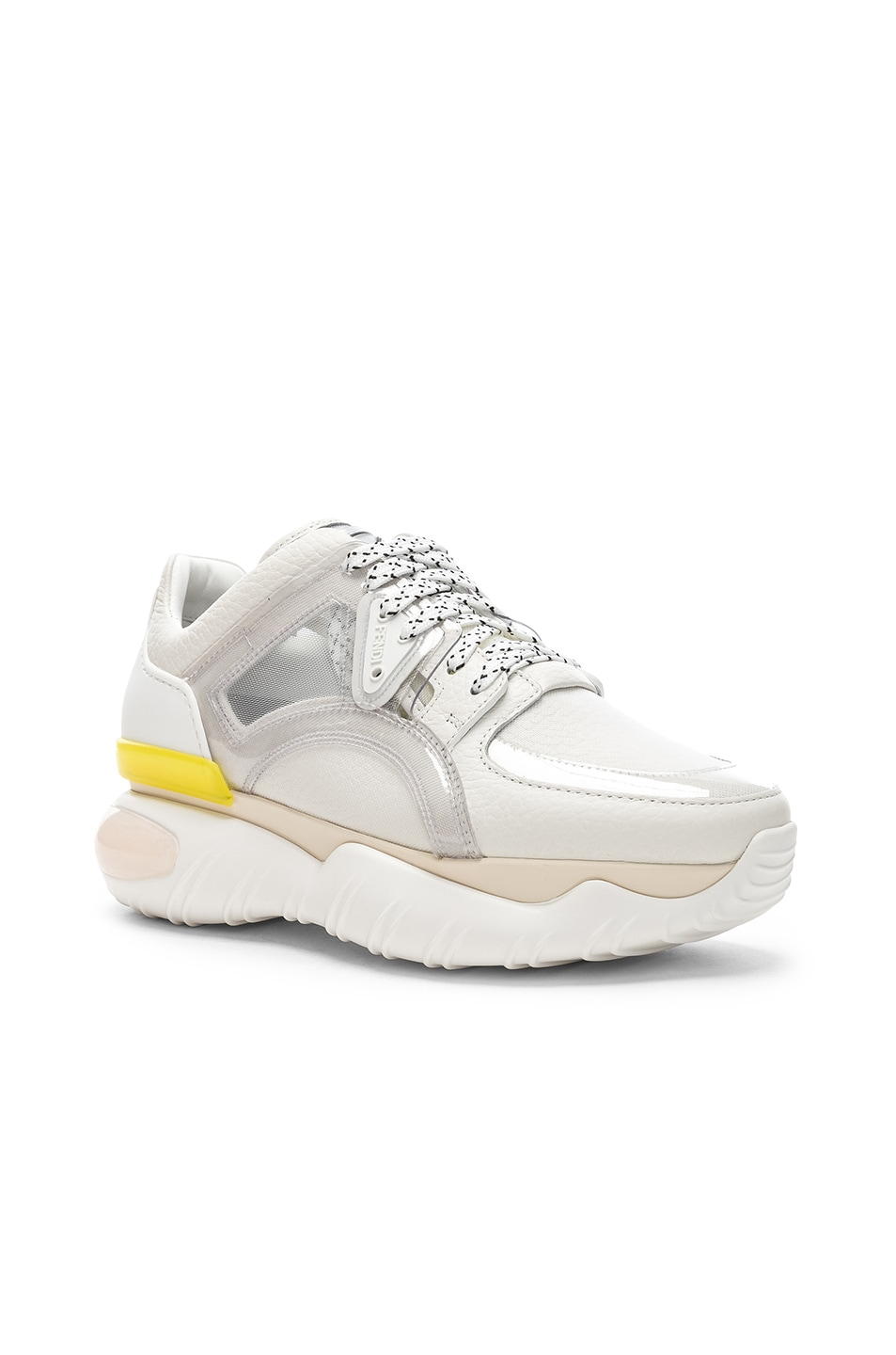Image 2 of Fendi Platform Sneakers in White