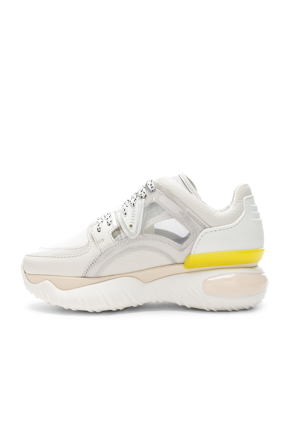 Image 5 of Fendi Platform Sneakers in White