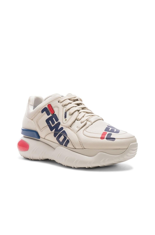 Image 3 of Fendi x FILA Logo Sneakers in White