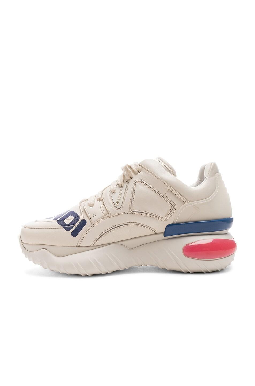 Image 5 of Fendi x FILA Logo Sneakers in White