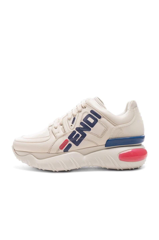 Image 8 of Fendi x FILA Logo Sneakers in White