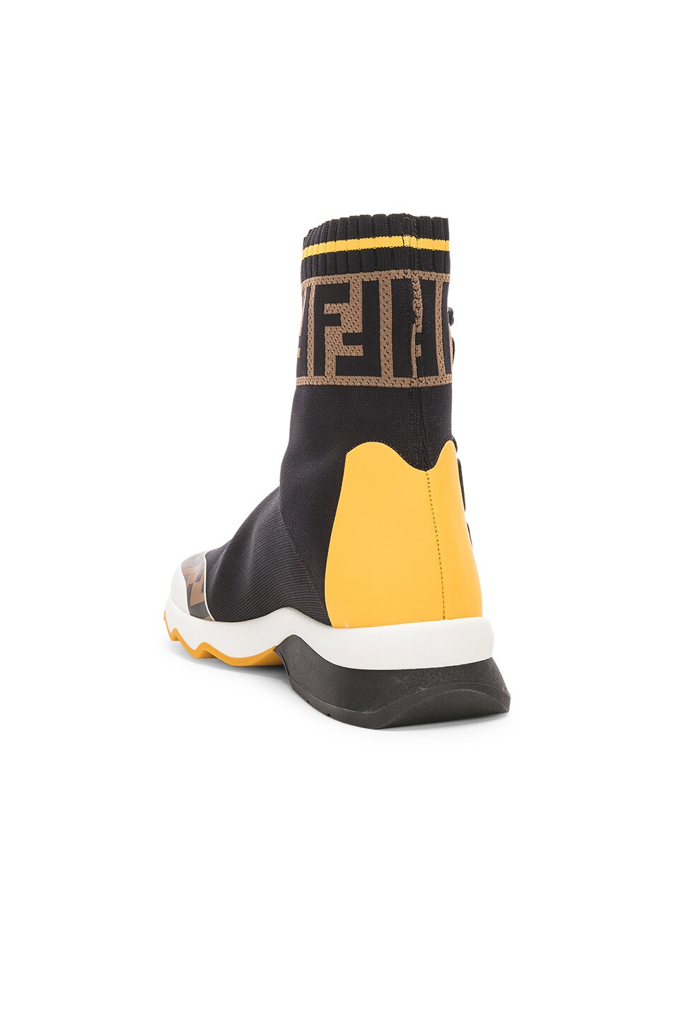 Image 3 of Fendi x FILA Sock Sneakers in Black & Multicolor