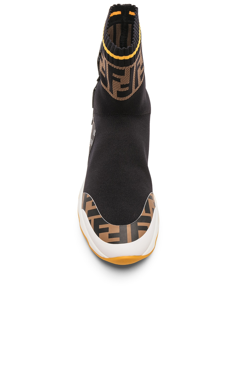 Image 4 of Fendi x FILA Sock Sneakers in Black & Multicolor