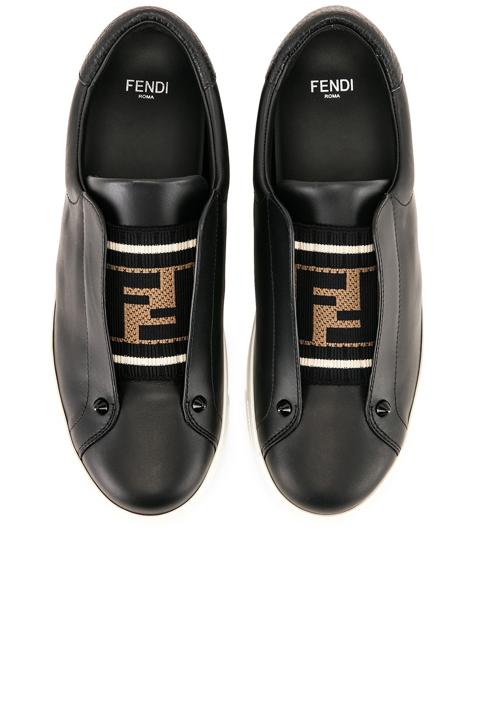 Image 1 of Fendi Rockoclick Sneakers in Black