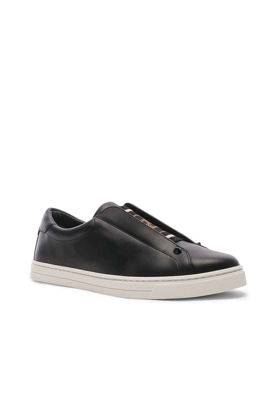 Image 3 of Fendi Rockoclick Sneakers in Black