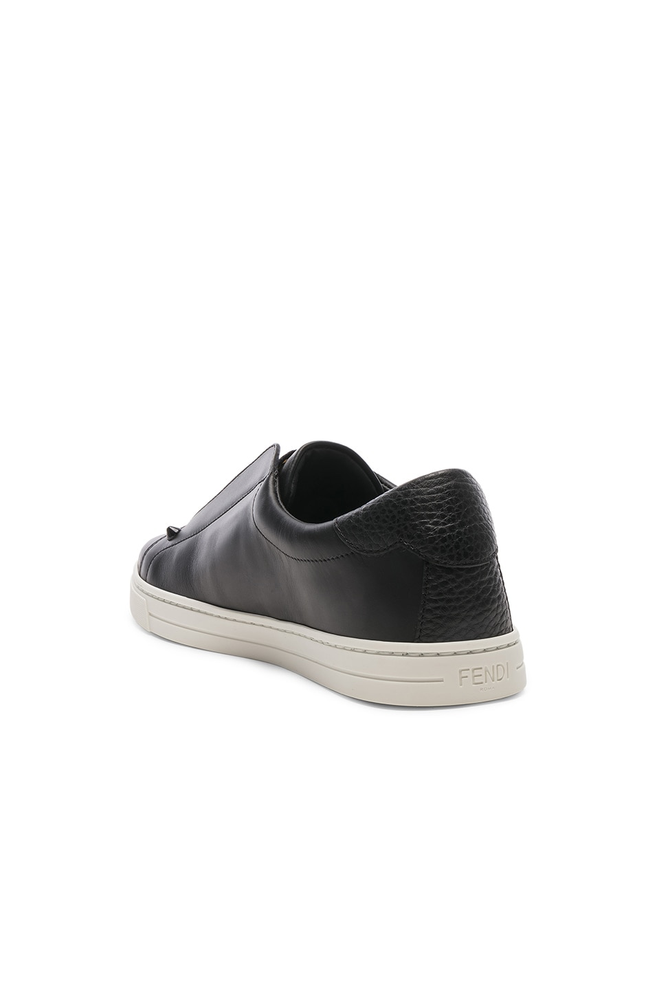 Image 4 of Fendi Rockoclick Sneakers in Black