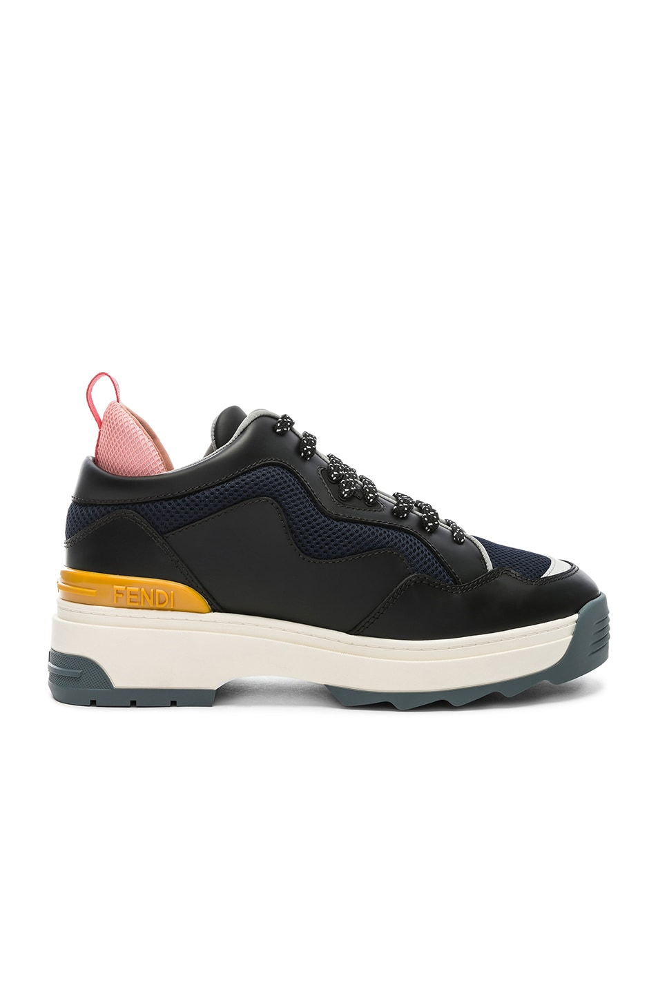 Image 1 of Fendi T-Rex Sneakers in Black