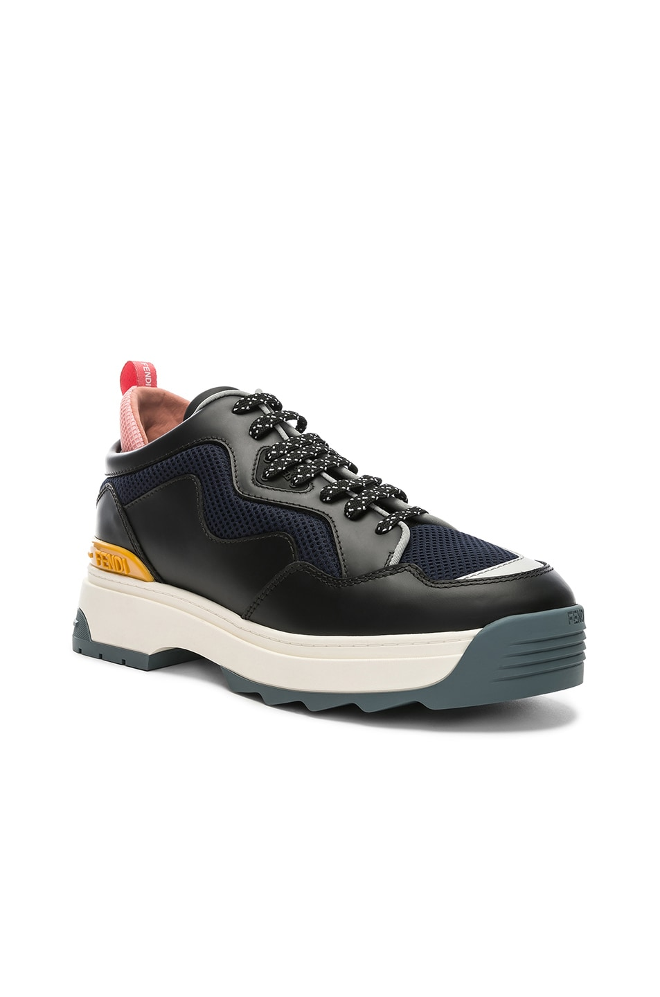 Image 2 of Fendi T-Rex Sneakers in Black