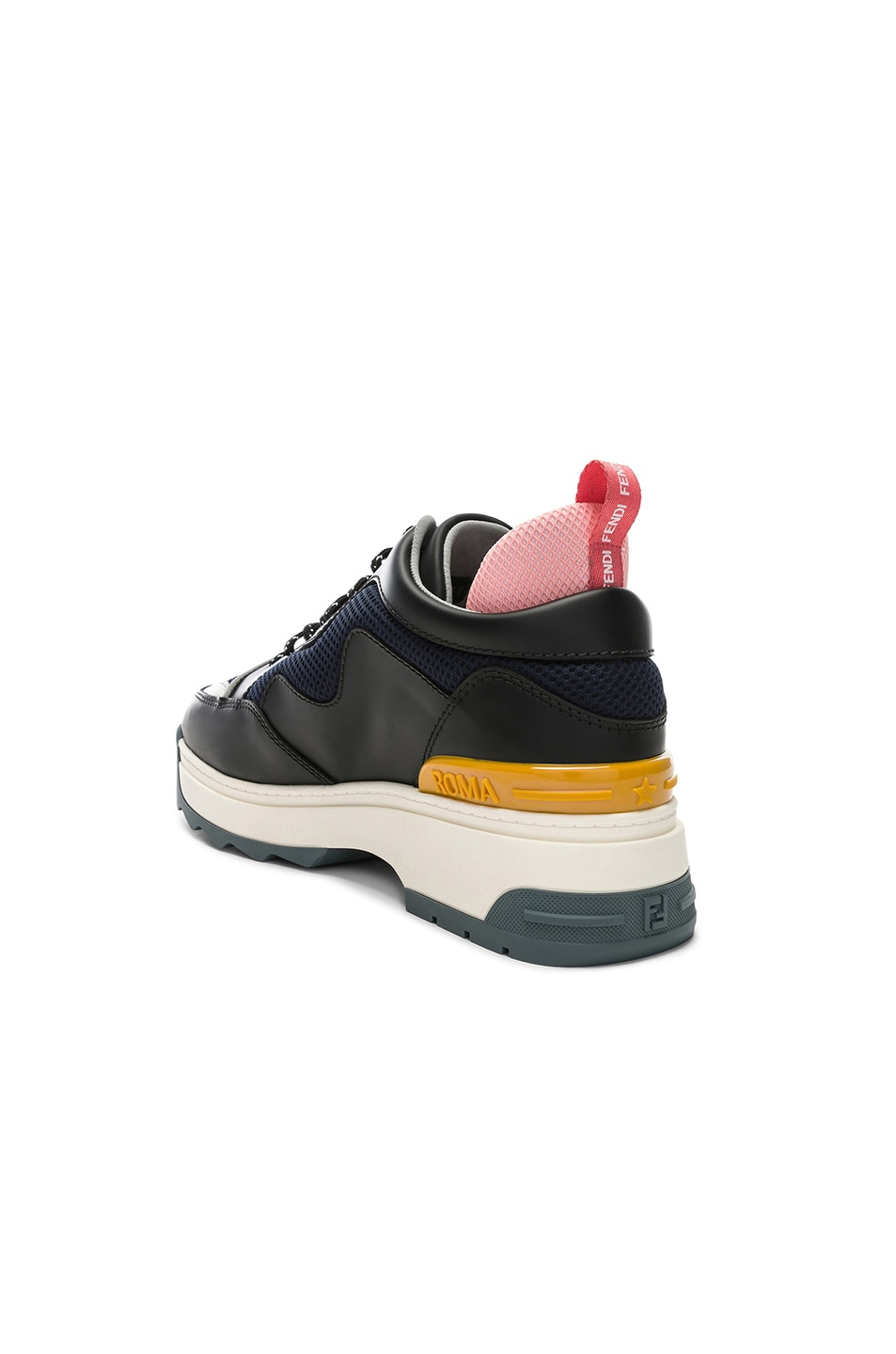 Image 3 of Fendi T-Rex Sneakers in Black