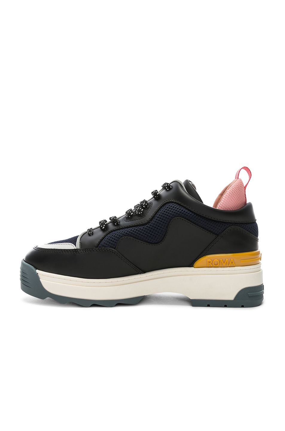 Image 5 of Fendi T-Rex Sneakers in Black