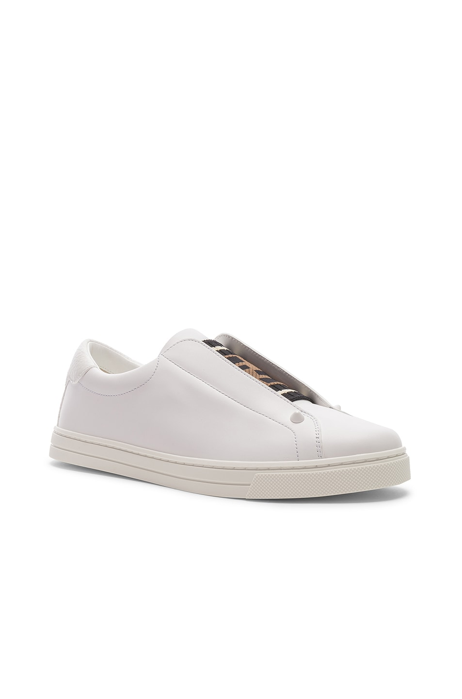 Image 3 of Fendi Rockoclick Sneakers in White