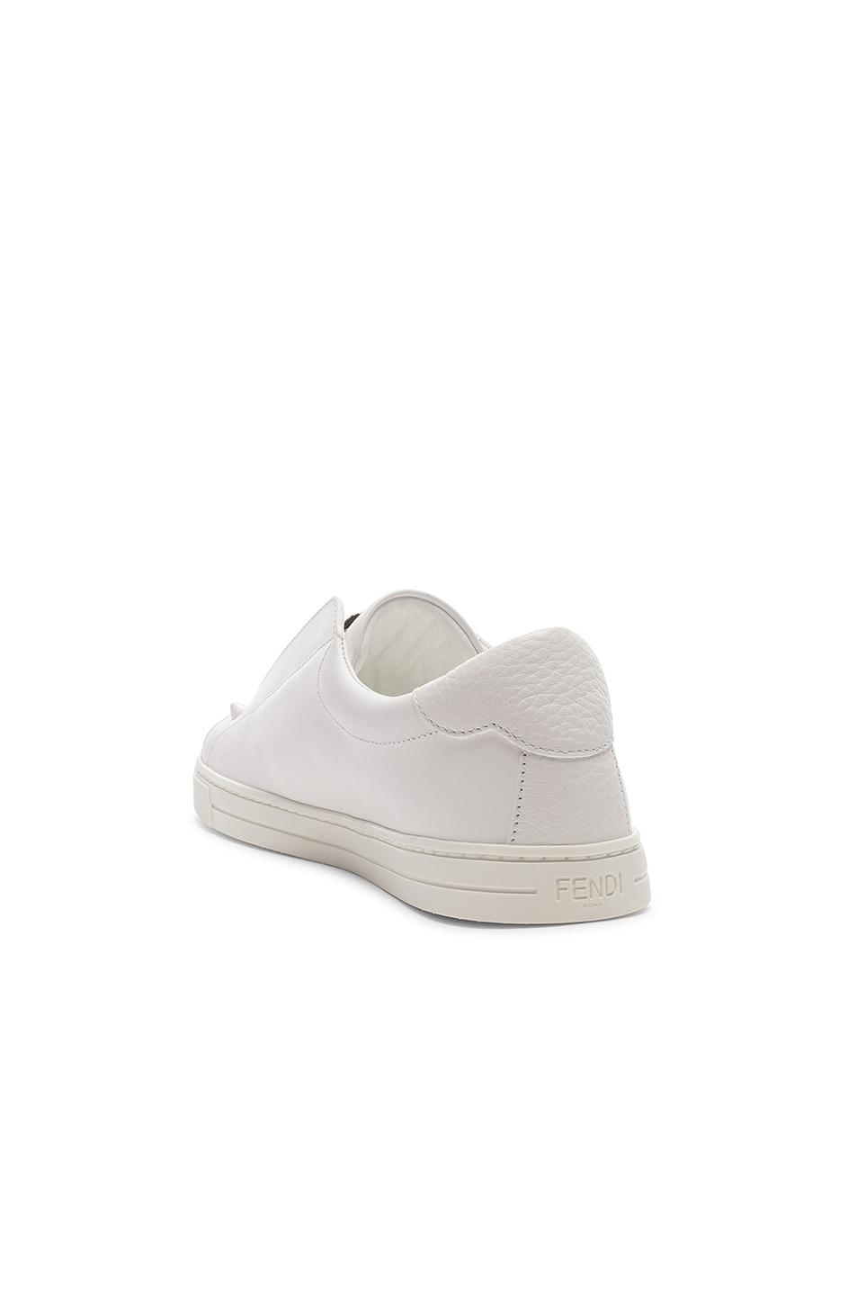 Image 4 of Fendi Rockoclick Sneakers in White