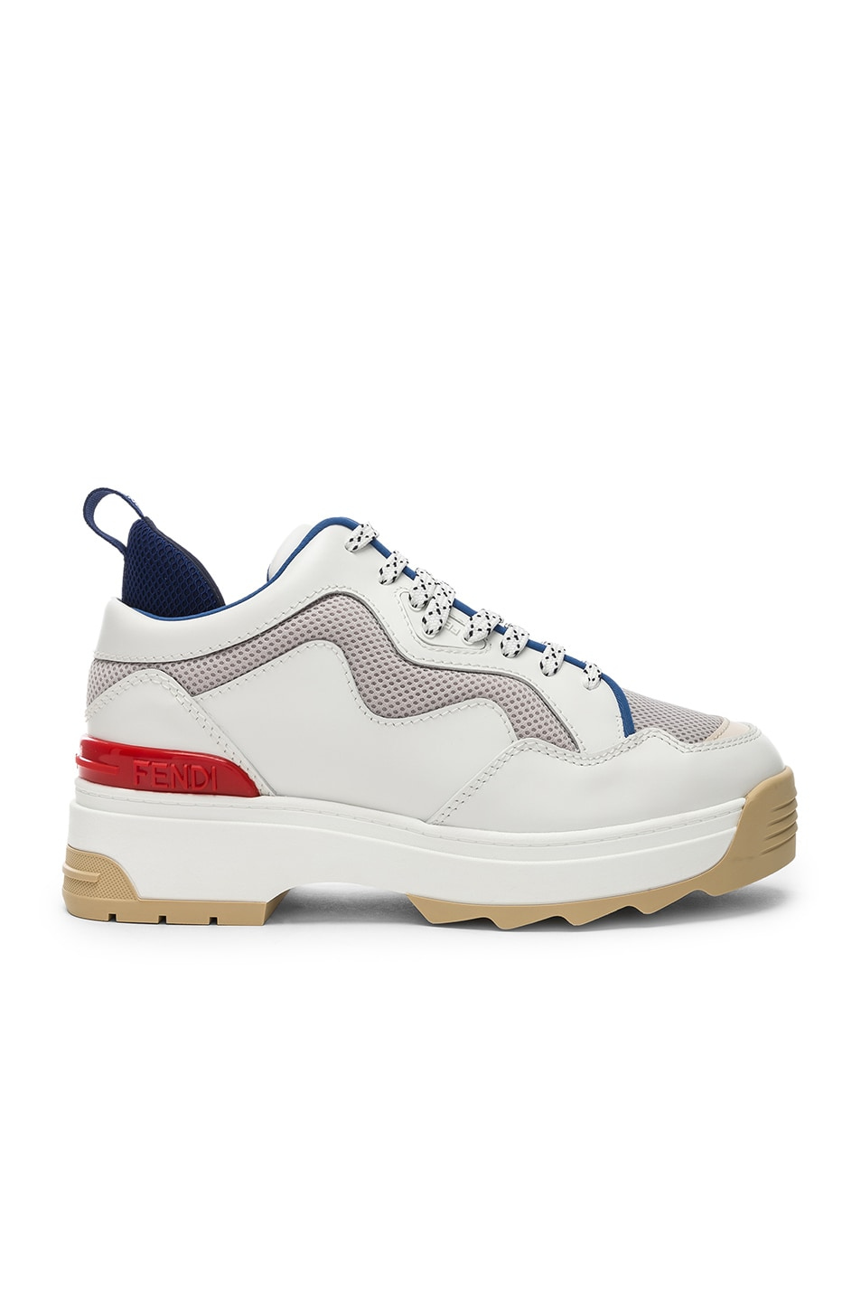Image 1 of Fendi T-Rex Sneakers in White
