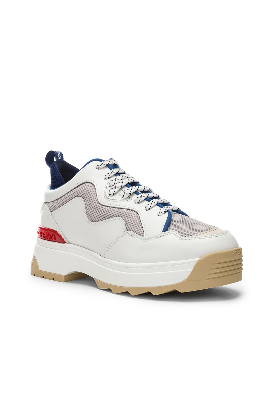 Image 2 of Fendi T-Rex Sneakers in White