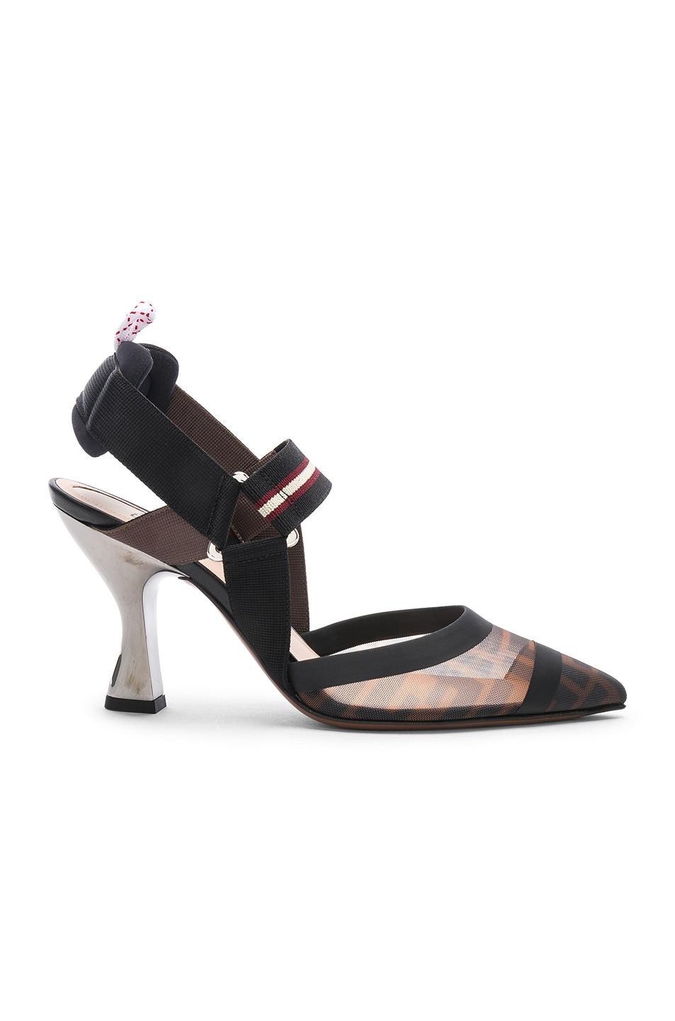 Image 1 of Fendi Colibri Slingback Heels in Black