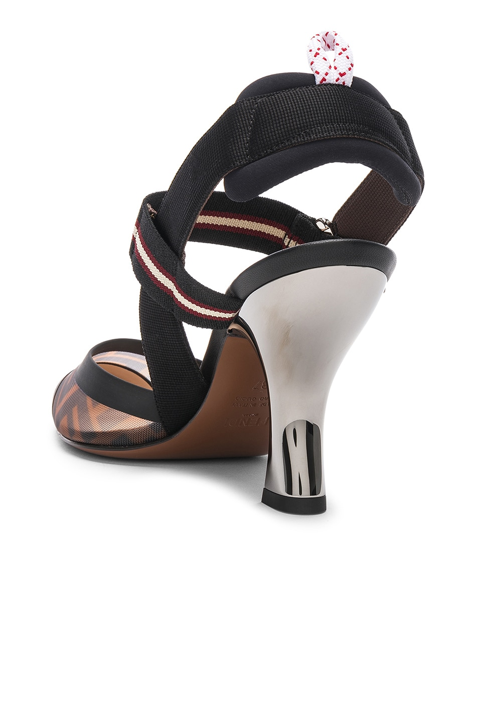 Image 3 of Fendi Colibri Slingback Heels in Black